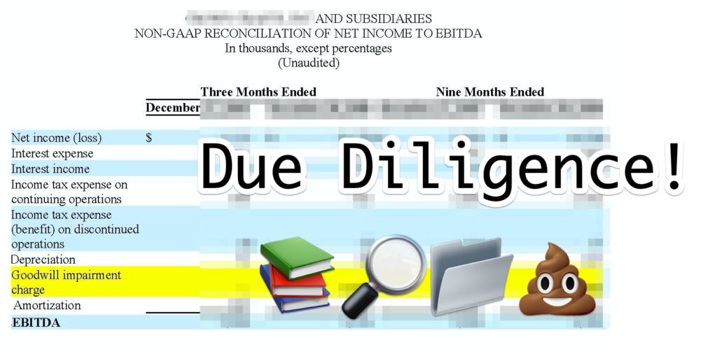 due diligence website flipping